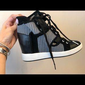 L.A.M.B wedge sneakers